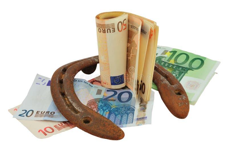 Chaussure et argent de cheval images stock