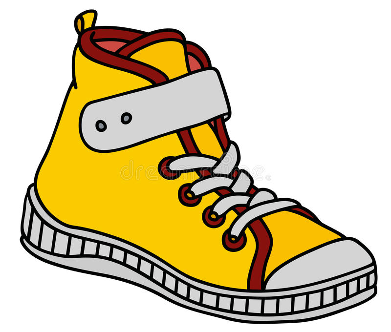 Chaussure jaune de sport illustration stock