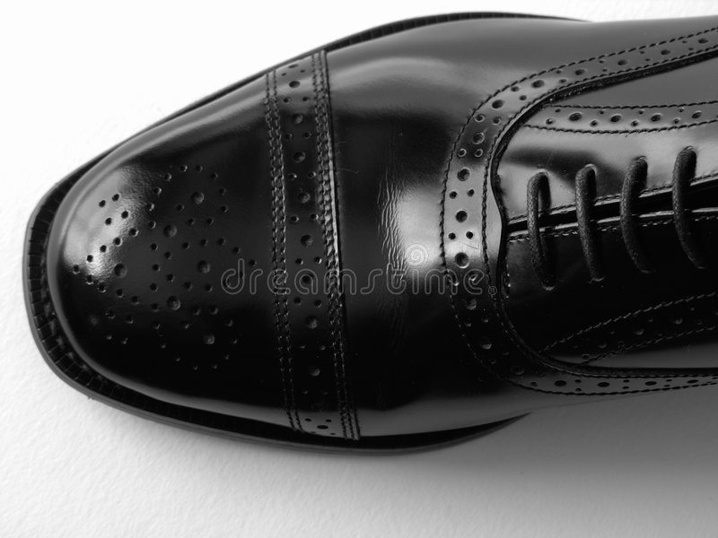 Chaussure noire photo stock