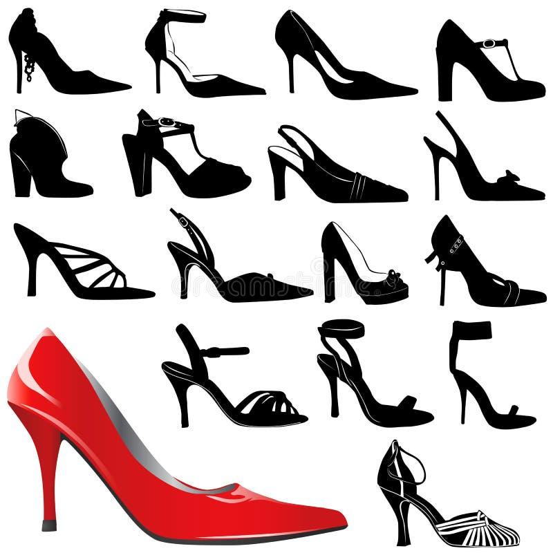 Chaussures 2 de femmes de mode illustration stock