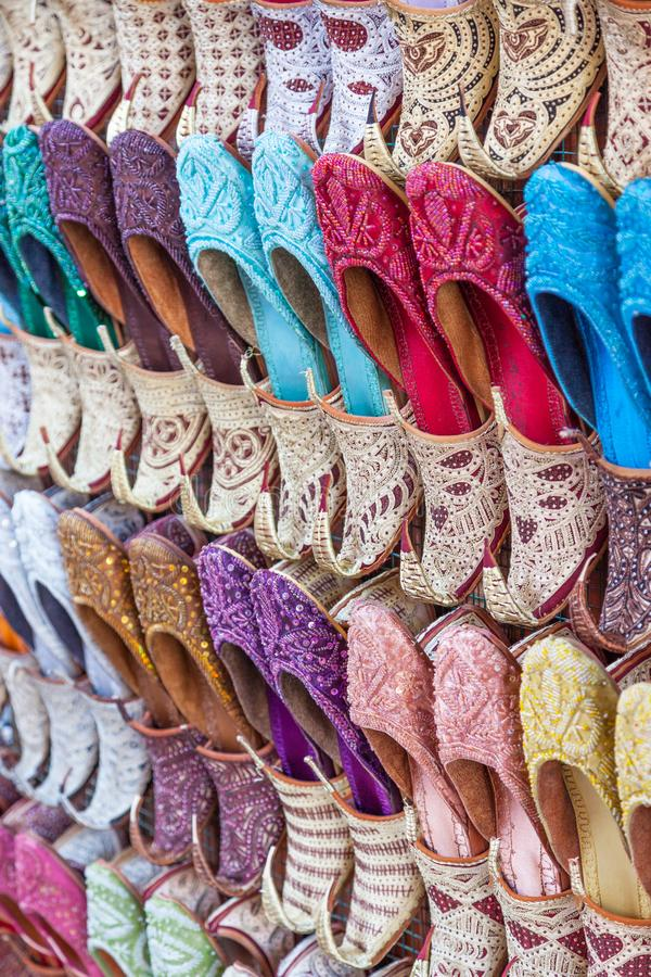 Chaussures Arabes traditionnelles image stock
