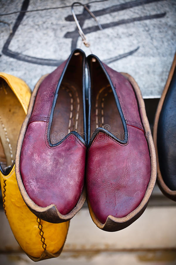 Chaussures arabes traditionnelles images stock