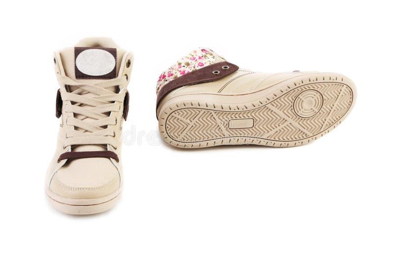 Chaussures blanches pour des filles image stock