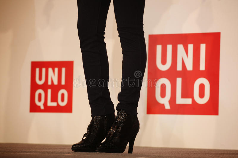 Chaussures d'UNIQLO photo libre de droits