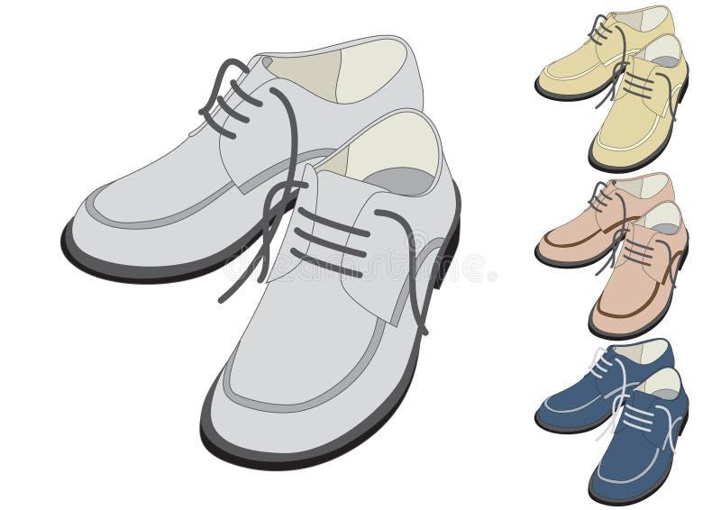 Chaussures dans la couleur différente illustration de vecteur