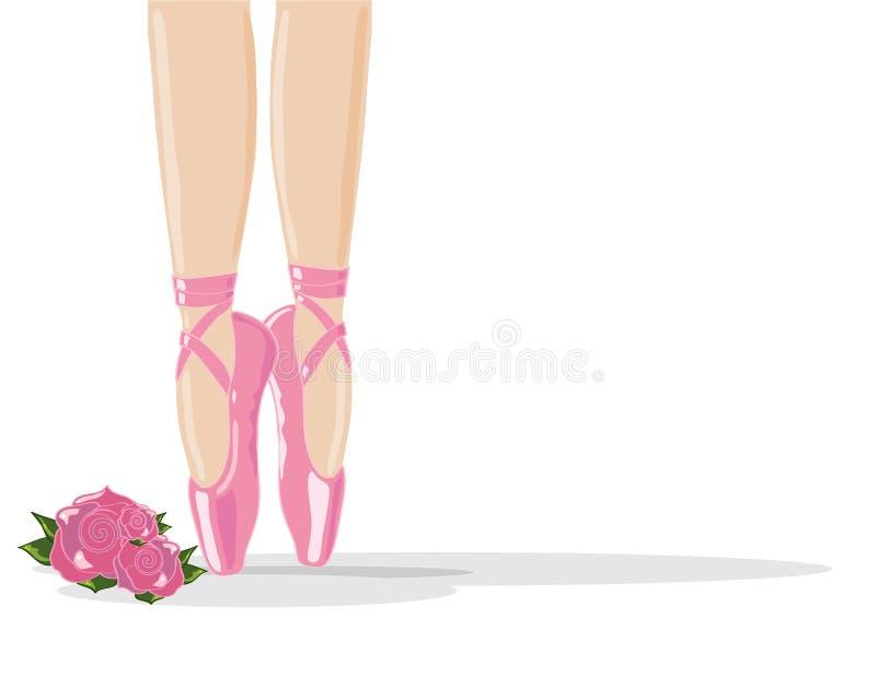 Chaussures de ballet illustration libre de droits