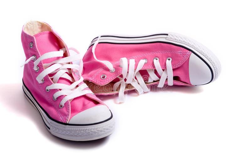 Chaussures de basket-ball roses photos stock