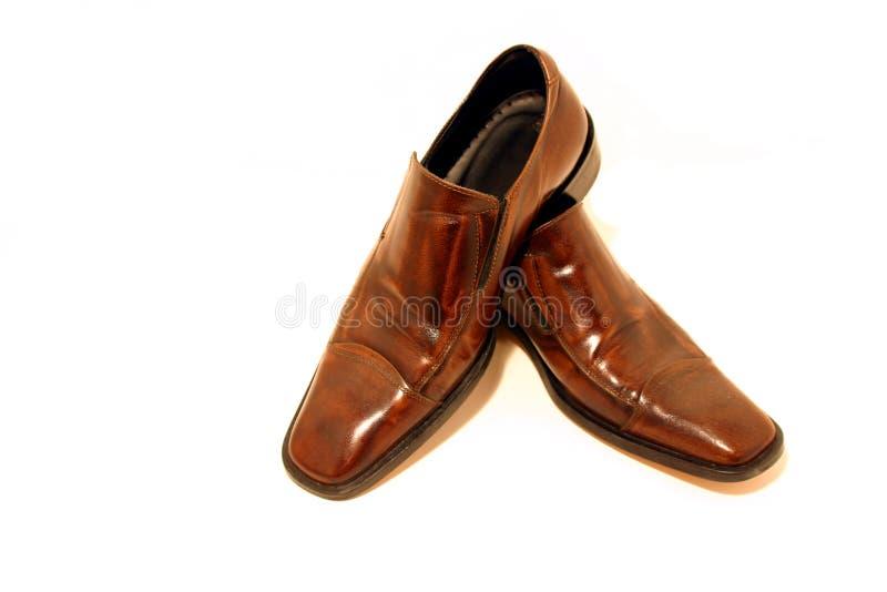 Chaussures De Brown Photographie stock libre de droits