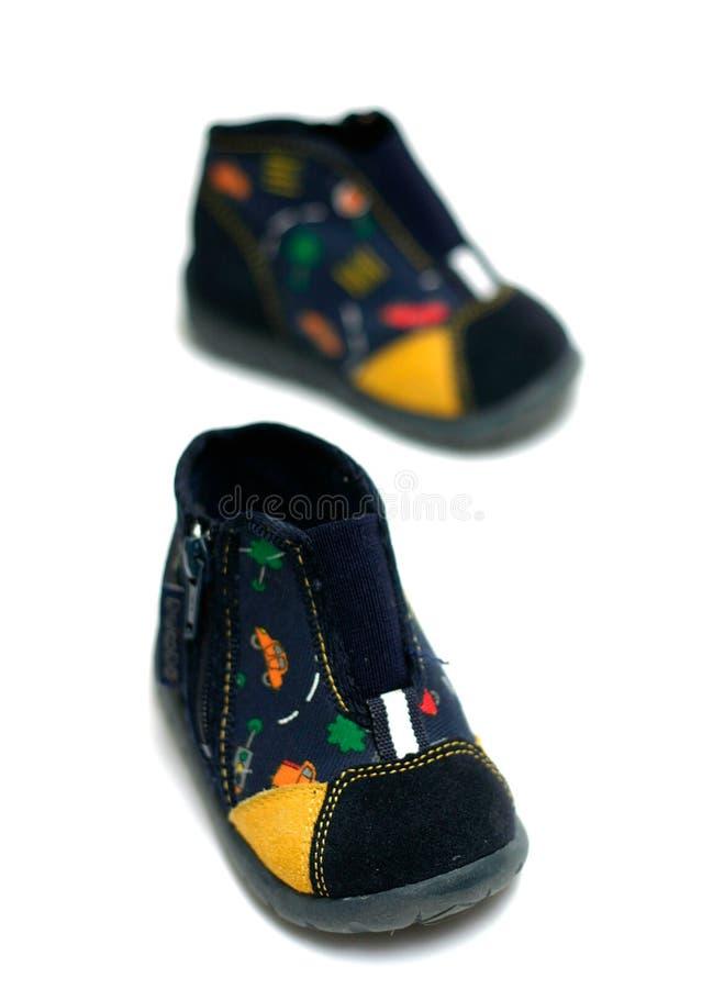 Chaussures de chéri bleue photo stock