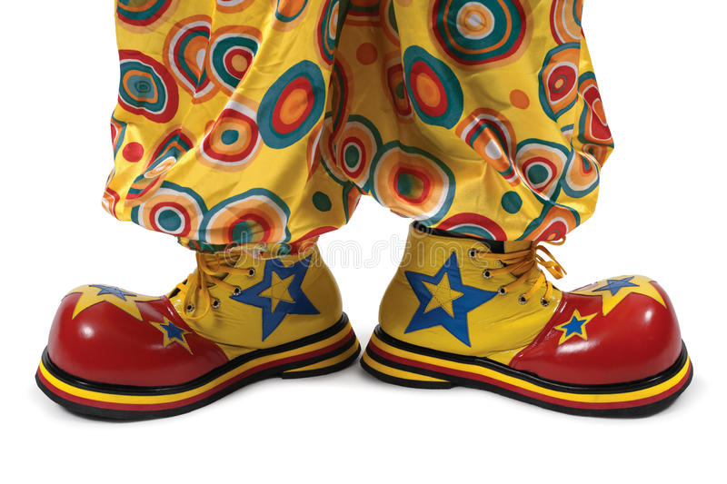 Chaussures de clown photo libre de droits
