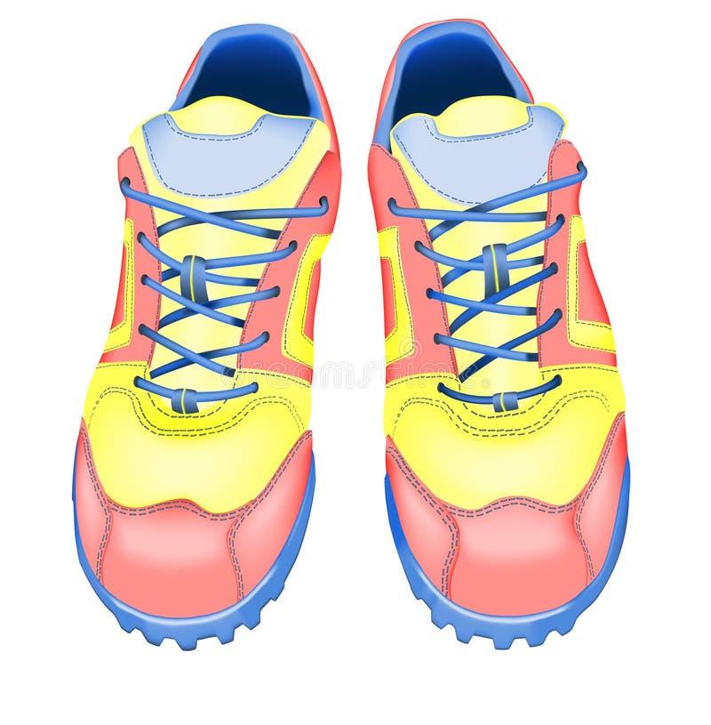 Chaussures de course illustration de vecteur