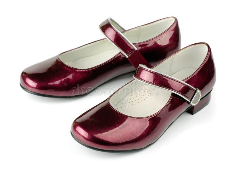 Chaussures de cuir verni images stock