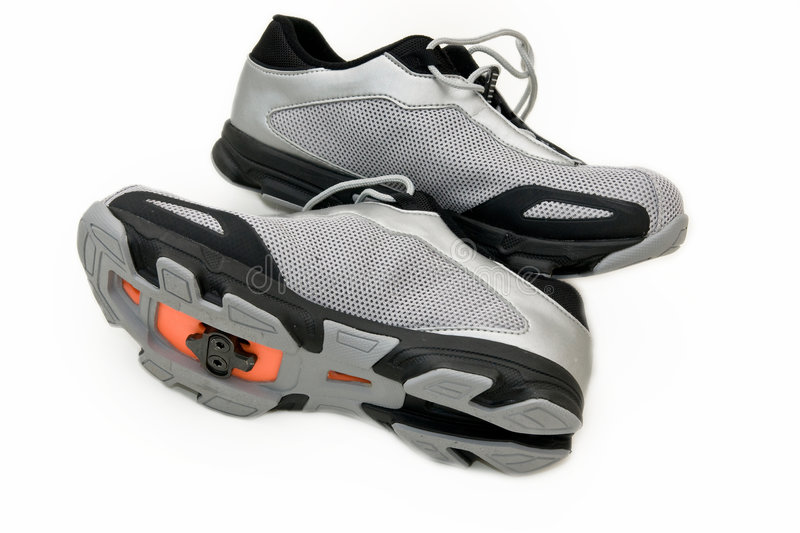 Chaussures de cycle photo stock