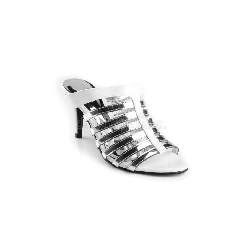 Chaussures, chaussures de dames sur le fond photographie stock