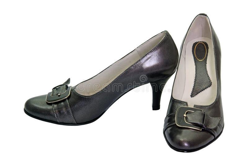 Chaussures de femme de couleur images stock