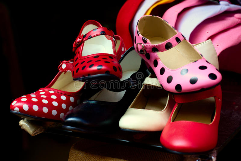 Chaussures de flamenco images stock