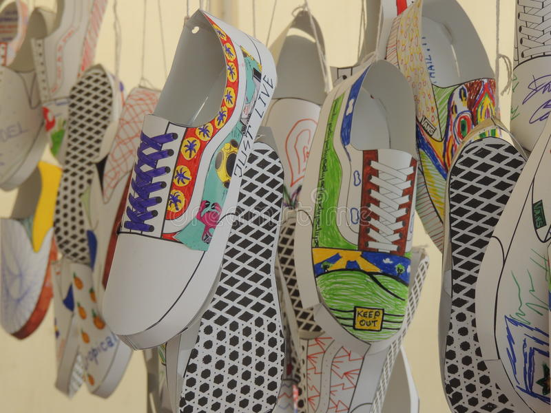 Chaussures de fourgons photographie stock