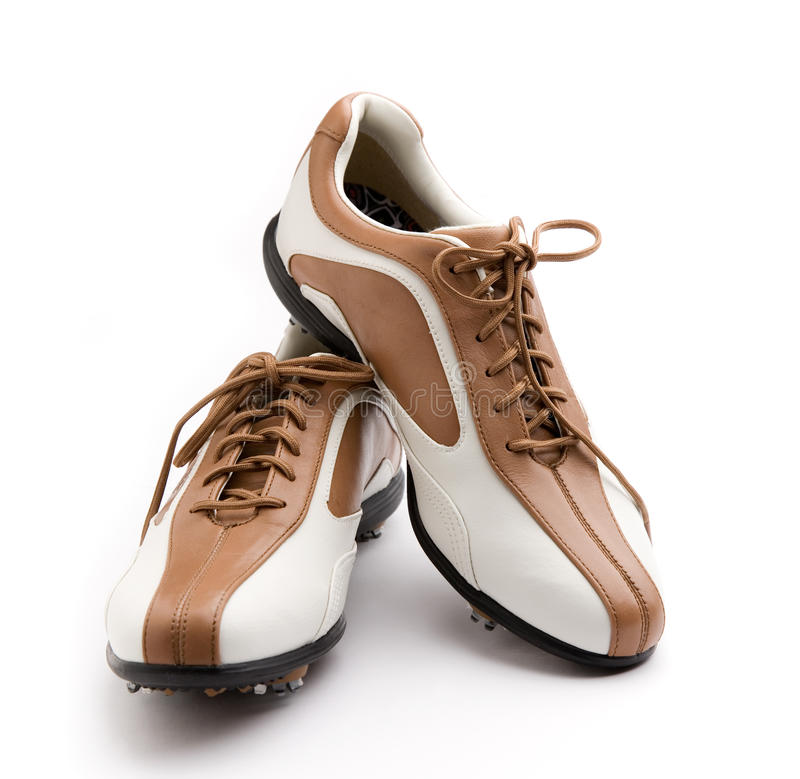 Chaussures de golf photo stock