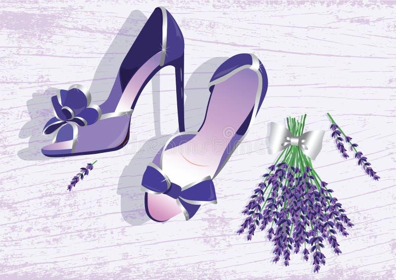 Chaussures de hauts talons illustration libre de droits