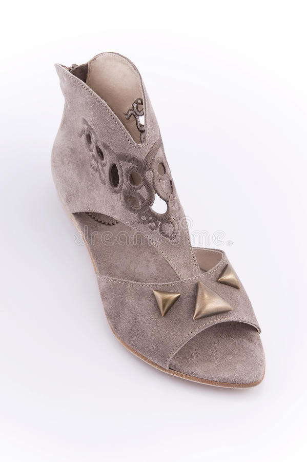 Chaussures de l'été des femmes avec de bas talons photos libres de droits