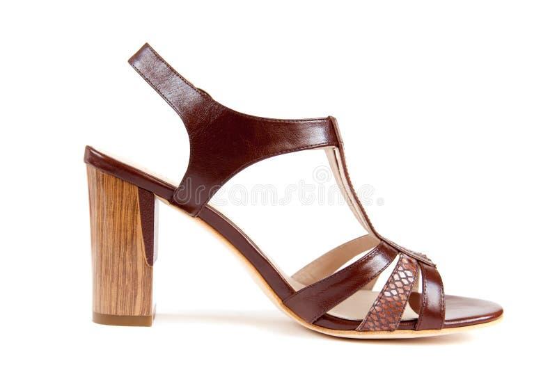 Chaussures de l'été des femmes d'isolement sur le blanc photo stock