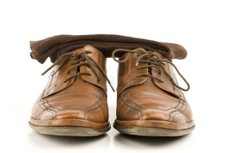 chaussures de luxe en cuir d'hommes d'affaires photographie stock