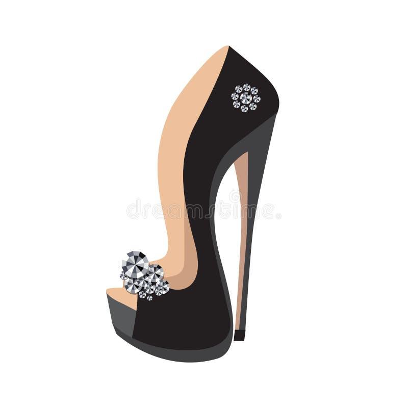 Chaussures de luxe sur un haut talon illustration libre de droits