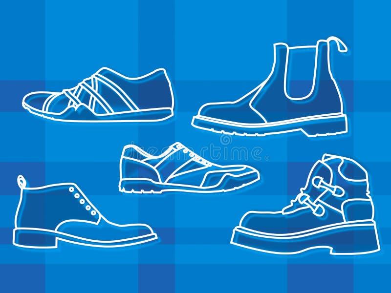 Chaussures de Mens illustration stock