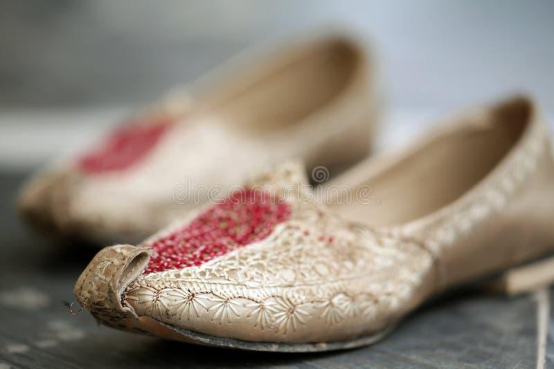 Chaussures de punjabi de mariage photo libre de droits