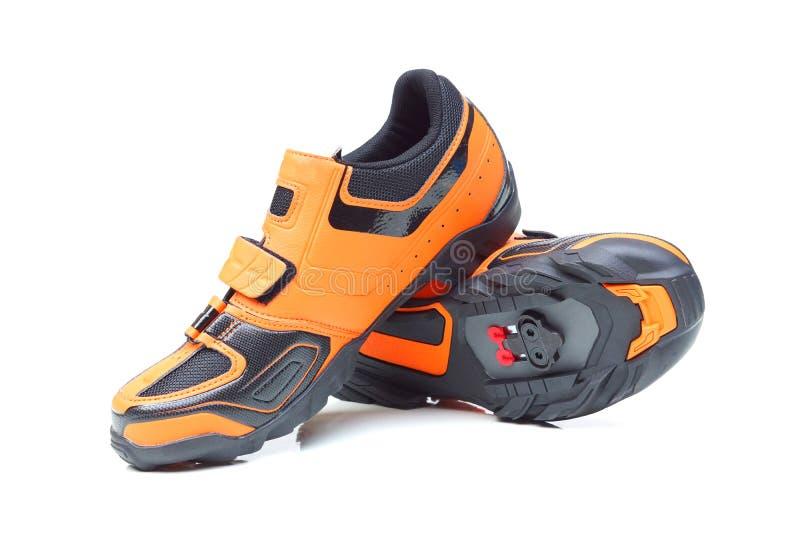 Chaussures de recyclage de vélo de montagne image stock