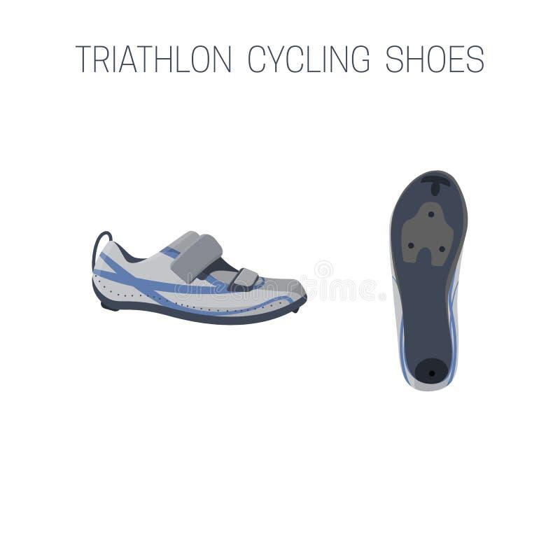 Chaussures de recyclage de triathlon illustration libre de droits