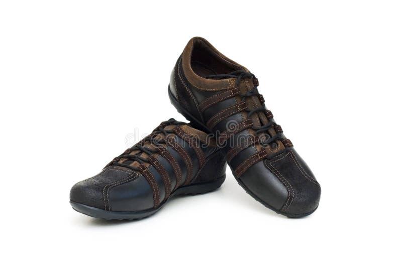 Chaussures de sport d'isolement photos stock