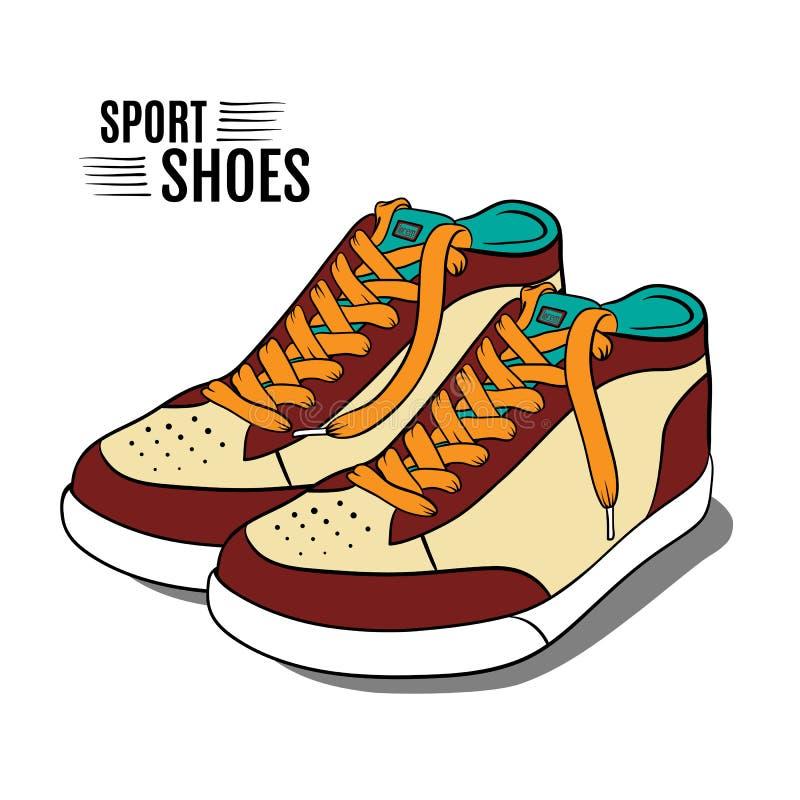 Chaussures de sport de bande dessinée Illustration de vecteur illustration stock