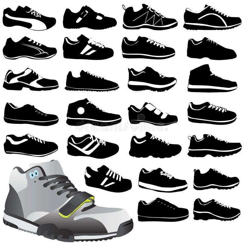 Chaussures de sport de mode illustration libre de droits