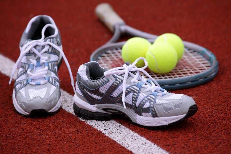 Chaussures de sports pour le tennis photo libre de droits