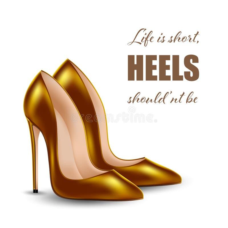 Chaussures de talon haut illustration libre de droits