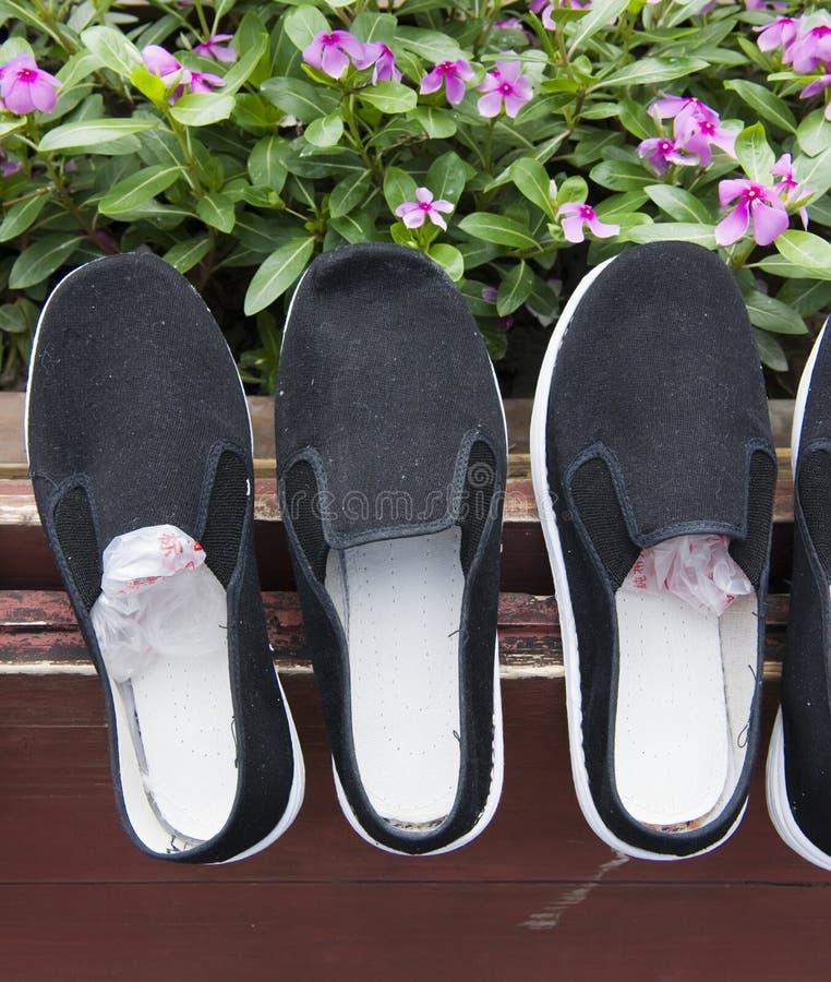 Chaussures De Tissu Images libres de droits