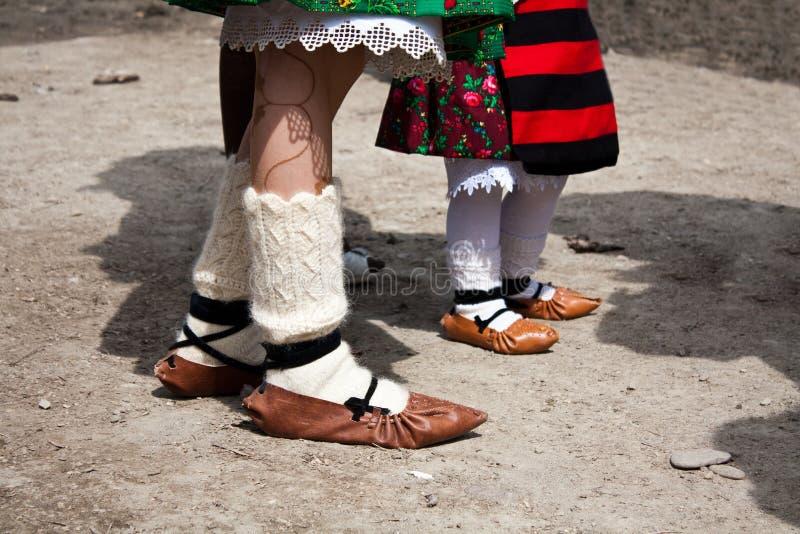 Chaussures de Ttraditional photographie stock libre de droits