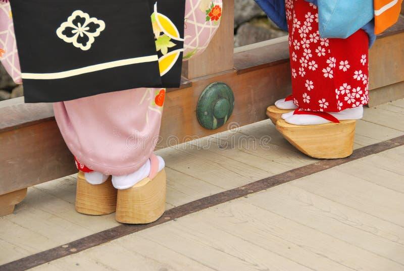 chaussures du geisha s photos stock