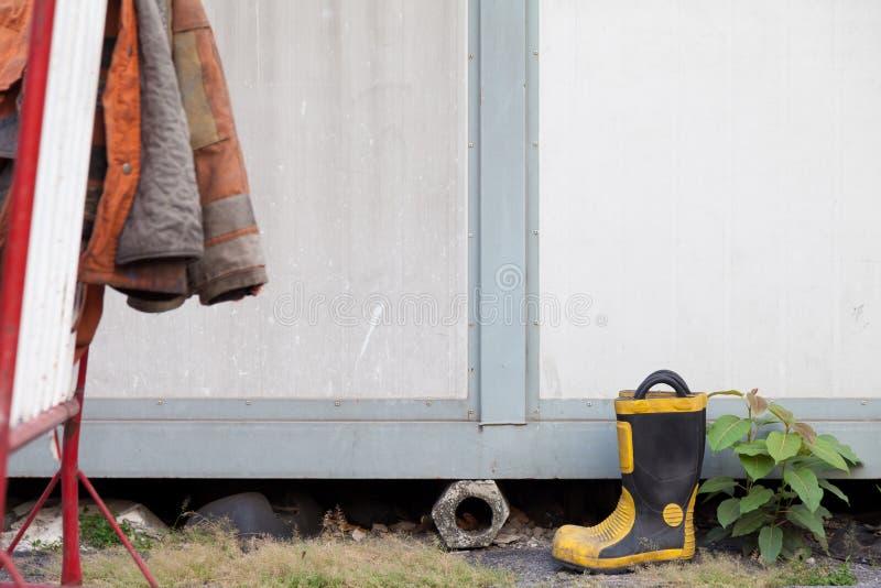 Chaussures du ` s de sapeur-pompier photos libres de droits