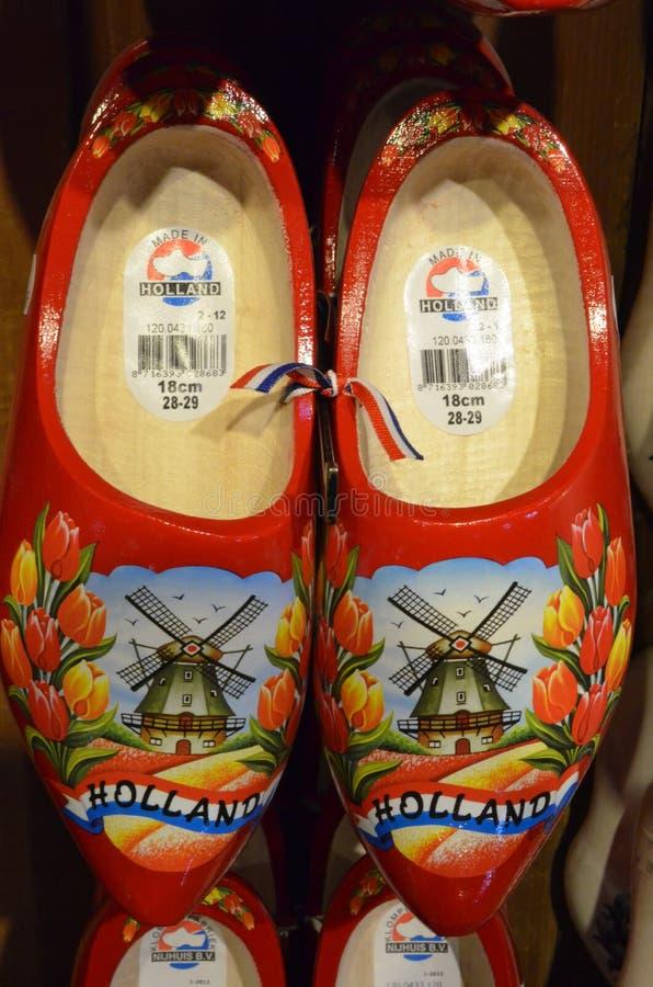 Chaussures en bois de la Hollande photo stock