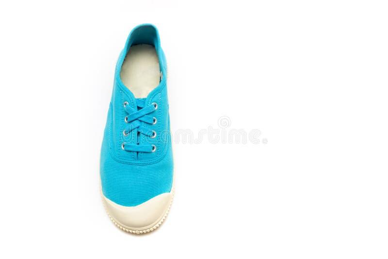 chaussures en caoutchouc bleus lumineux photographie stock