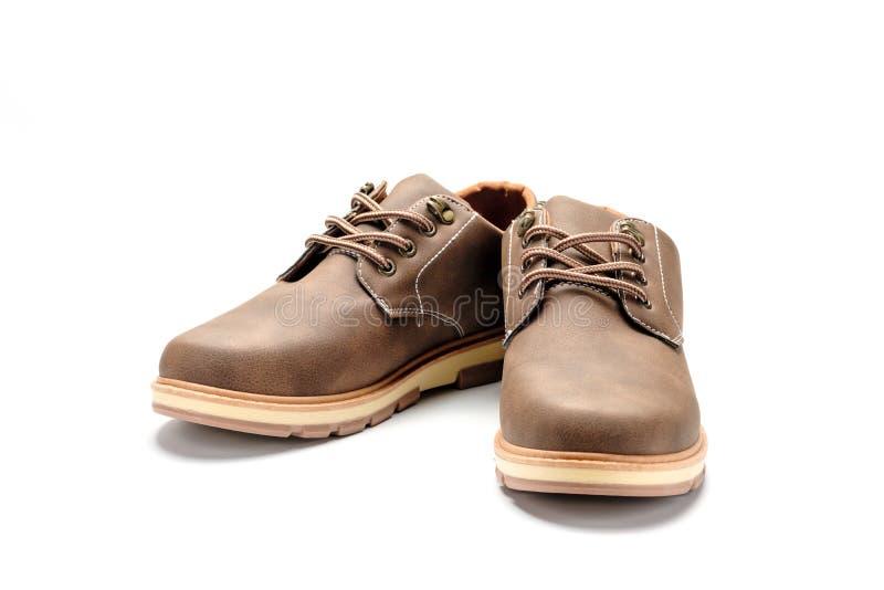Chaussures en cuir d'isolement photo stock