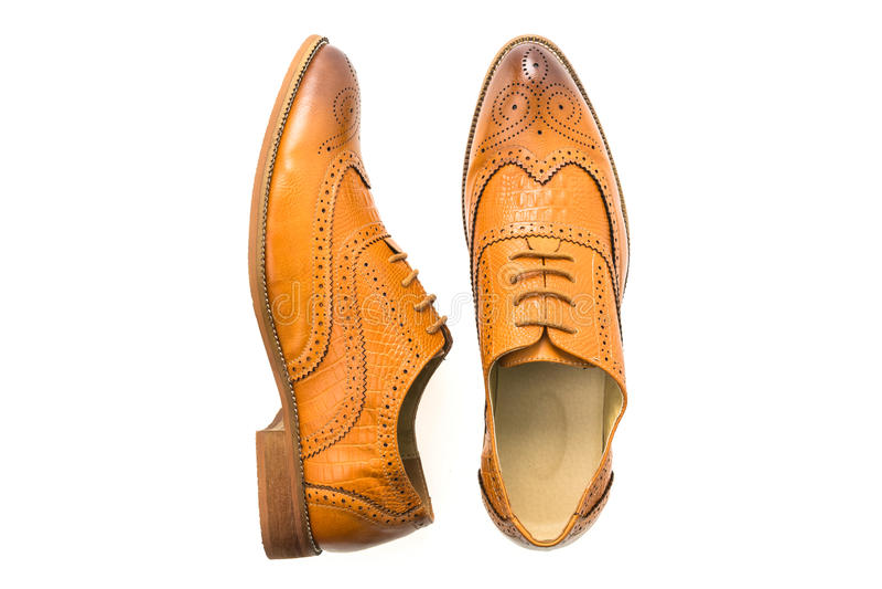 Download Chaussures En Cuir De Brown Image stock - Image du mens, isolement: 87705751