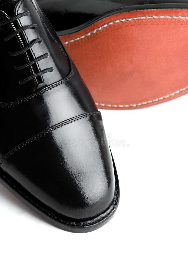 Chaussures en cuir de Gentlemanâs image libre de droits