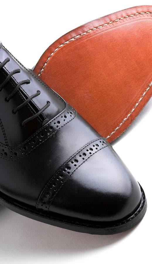 Chaussures en cuir de Gentlemanâs photo stock