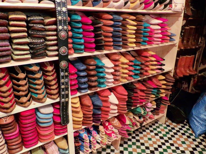 Chaussures en cuir marocaines image libre de droits
