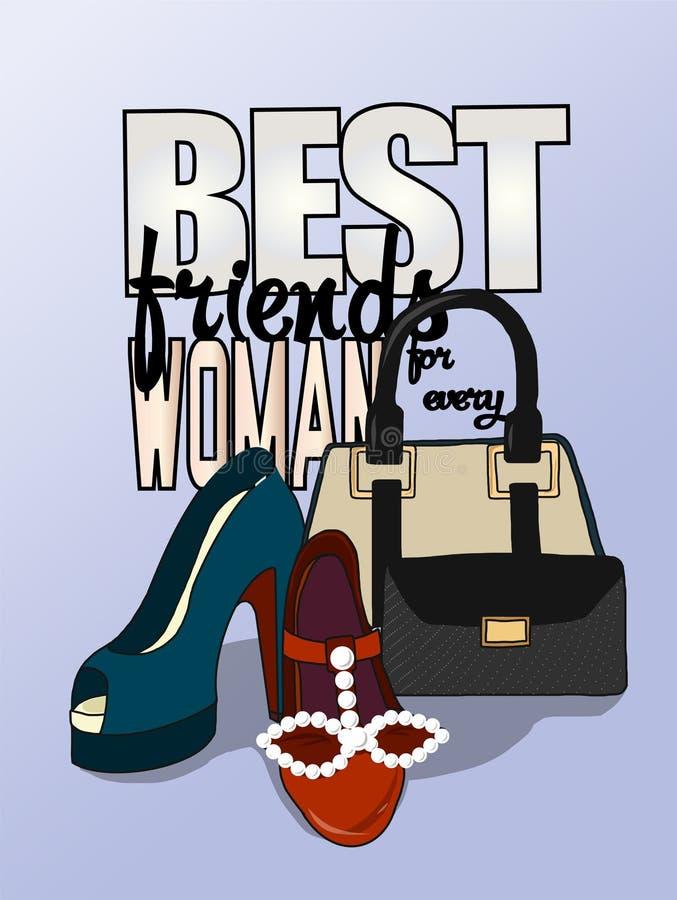 Chaussures et sacs illustration de vecteur