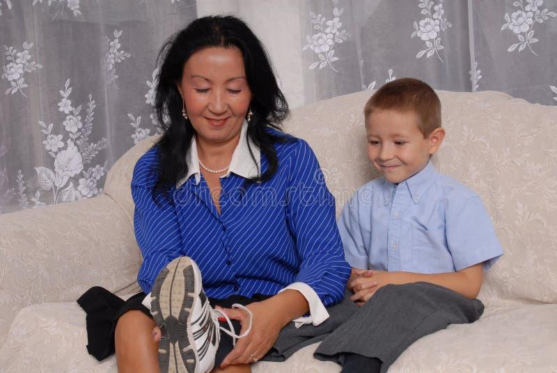 Chaussures et temps 4 de chaussettes photographie stock libre de droits
