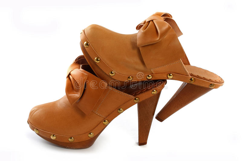 Chaussures femelles photo stock